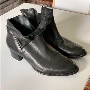 Black booties, very comfortable, low profile heel